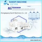 Máquina de rellenar linear automática del agua de botella del barril de 5 galones