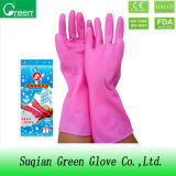 Длинние перчатки домочадца PVC тумака