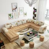 Sofa neuf de tissu de forme du modèle U, meubles modernes de salle de séjour (S889)