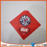 bandierina su ordinazione di sicurezza del PVC di colore rosso di 30*30cm