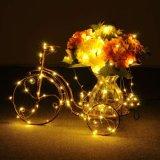 La chaîne de caractères allume les lumières décoratives de chaîne de caractères de C.C de lumières féeriques d'en cuivre pour la maison de mariage de Noël