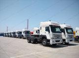 人の技術6*4のトレーラトラックヘッドが付いている中国HOWOのトラクターのトラック