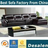 Sofa en cuir en bois de meubles de luxe pour les meubles à la maison (B. 958)