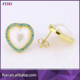 I monili di figura del cuore hanno impostato con la perla di Waterfresh