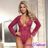 Tamanho mais requintada Luva Lace Teddy lingerie sexy Lua de Mel