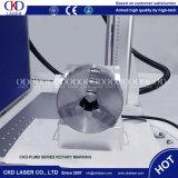 Волокна лазерная маркировка машины для кольца Plastis ПВХ