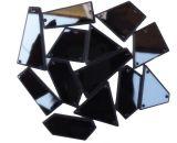 Смешанный цвет и форму на акриловый Sew! зеркало Diamante Rhinestone Crystal гладкой стороне зеркала заднего вида шва с отверстием для DIY свадьбы
