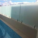 Pasamano de cristal de cristal de la piscina de la espita del acero inoxidable de la barandilla del balcón