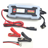 Cargador de batería elegante de coche de la visualización 0.8A/3.8A 6V/12V del LCD