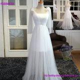 卸し売りAラインのテュル白人の従来のパターン新婦付添人のカスタム服
