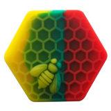 2017 de Hete Verkopende Hexagon Container van de SCHAR van het Silicone van de Was van de Honingbij
