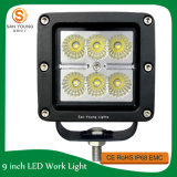 18W 4inch Square CREE LED Lumière de travail Spot Beam SUV 4X4 Truck ATV Motor Truck Working Light Use