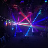 9 indicatore luminoso capo mobile dell'indicatore luminoso RGBW 4 del fascio del ragno LED del pixel degli occhi in-1 per il randello di notte