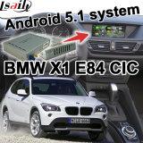 Interfaz video del GPS del rectángulo androide de la navegación para la conexión Youtube Waze del espejo del sistema de BMW E84 X1 Cic