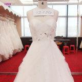 Привлекательный назад отбортованный Neckline lhbim Bridal платья лифа без бретелек линия мантия венчания