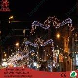 Lumière de Noël extérieure d'éclairage de DEL DEL à travers la décoration de rue de lumière de motif d'étoile de rue