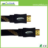 Color sólido Cable HDMI Tipo Plano 19pin macho M/M