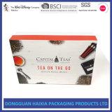 Rectángulo impreso cartulina dura modificado para requisitos particulares para el conjunto del regalo del alimento del café del té