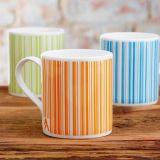 Tazza lustrata del gres di due colori con la tazza di ceramica 8oz di marchio su ordinazione