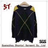 Mode de haute qualité motif carreaux hommes pullover en tricot