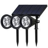 정원을%s 태양 강화된 LED 재충전용 스포트라이트