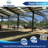 필리핀에 있는 Prefabricated 디자인 강철 구조물 프레임 창고 건물