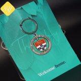 Colégio Universitário de metal personalizada da cadeia de chave rotativo para a Loja