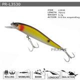 Pr-L3530 70mm 5.2g a personnalisé suspendre l'attrait en plastique de pêche de vairon dur