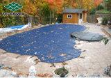 De plastic Groene Stof van het Netwerk van de Grondstof van de Polyester Vierkante Geweven voor de Dekking van het Zwembad, Stof Amerikaan van het Netwerk van het Polypropyleen de Plastic