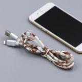 Cuero coloridas Cable cargador micro USB para Samsung iPhone 8