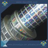 Collant auto-adhésif de qualité de garantie d'hologramme fait sur commande de laser en roulis