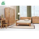 ヨーロッパ式のマツ純木の寝室の家具は王の高い等級186をセットするSize