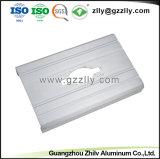 Perfil de alumínio para equipamento de áudio do carro Radiador com certificação ISO9001