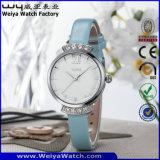 Relógios de pulso ocasionais das senhoras do relógio de quartzo da cinta de couro do ODM (WY-076E)