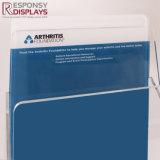 Soporte de visualización de acrílico transparente del folleto del prospecto de la encimera