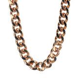 Collar plateado plata del encadenamiento del diseño simple de la joyería de la manera para el hombre