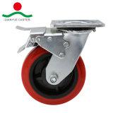 Красный провод фиолетового цвета с шарнирного соединения тормоза самоустанавливающегося колеса для тяжелого режима работы