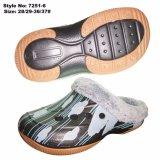 De warme Schoenen van Sandals van de Belemmering van EVA van de Winter met de Voering van het Bont