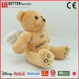 Brinquedo macio do urso do anjo do urso da peluche do animal enchido do luxuoso para a promoção