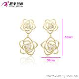 Gold-Plated Blumeluxuxzirconia-Ohrring 90041 der Xuping Form-14k