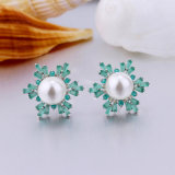 Bunte Kubikzirconia-Perlen-Ohrring-Entwurfs-Schmucksachen für Mädchen