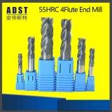 2/4 di fresa di CNC del quadrato del carburo del rivestimento delle scanalature 55HRC Tisin