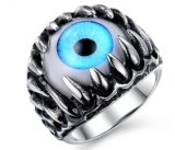 Acero Inoxidable 316L Popular gótico Punk Mens anillo ocular