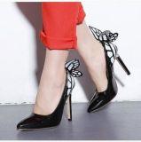 Оптовая торговля указал мелкая рот лакированная кожа бабочка высокие каблуки обуви