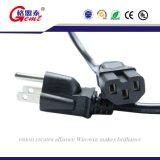 18 AWG-Lehreuniversalnetzanschlußkabel für NEMA 5-15p zum Kabel IEC320c13