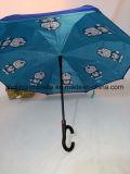 Los nuevos diseños de Auto reversible. Abrir paraguas con dibujos animados