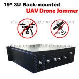 Rack-Mounted Anti Spy Seguridad y Defensa de la señal de aviones no tripulados Uav Jammer