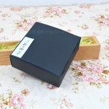 Matt plastificado tortas personalizadas de color negro caja de papel