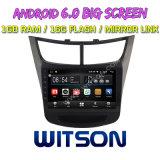 "Witson grande ecrã de 9"" com sistema Android 6.0 aluguer de DVD para Chevrolet Novo Sail (BAIXO) 2015"