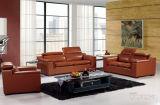Sofa en cuir moderne avec des divans de cuir véritable